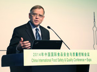 Mike Taylor at the 2014 China International Food Safety Quality Conference Expo